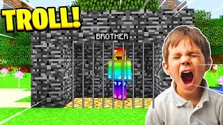 Minecraft: TROLLING MY LITTLE BROTHER! (Ps3/Xbox360/PS4/XboxOne/PE/MCPE)