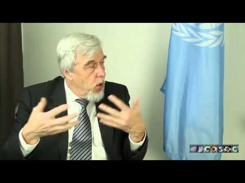 CERN Director General Rolf Heuer talks to UN ECOSOC