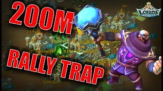 200M RALLY TRAP & SOLO TRAP & RALLIES - Bluestacks - LORDS MOBILE