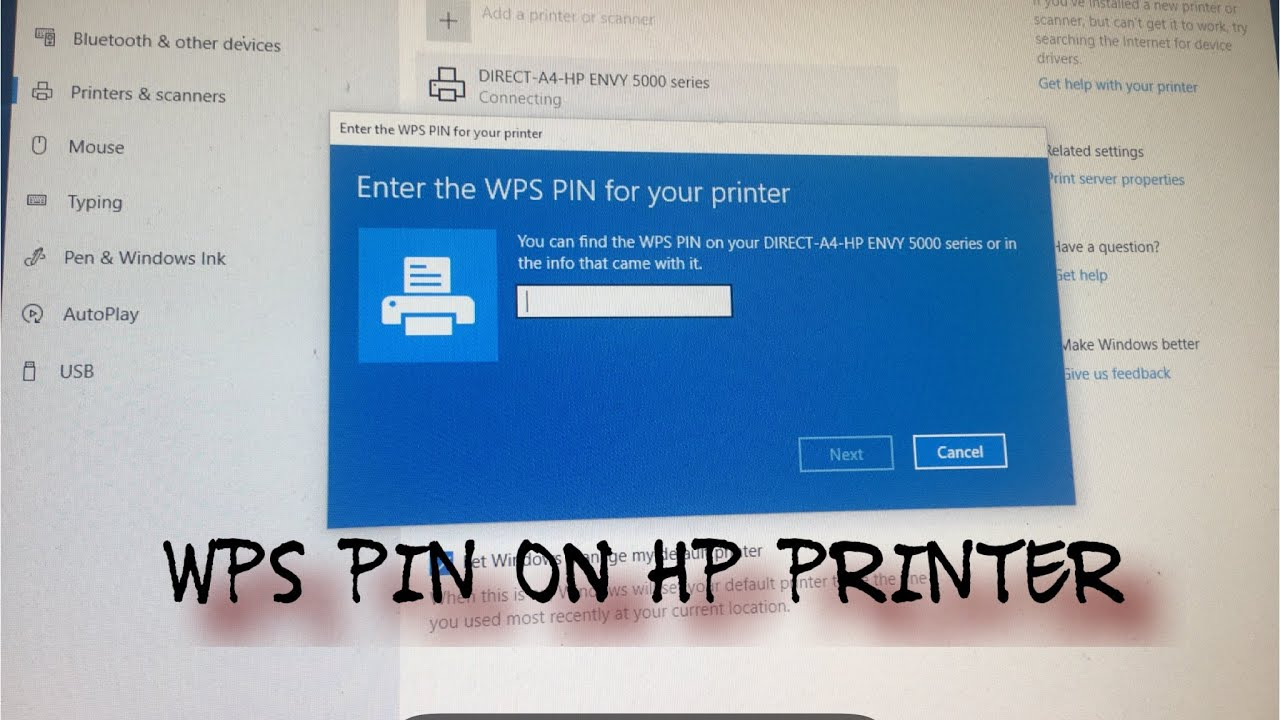 Wps Pin Hp Printer Youtube