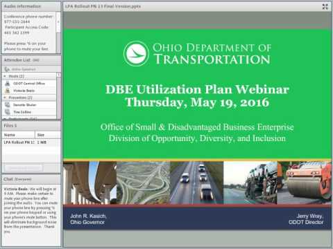 DBE Updates to the Local-let Process in Ohio Webinar May 19 2016
