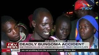 A student killed at Ndegelwa market, in an accident involving 2 trucks