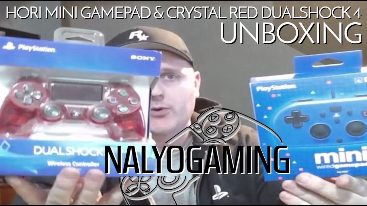 Hori Mini Wired Gamepad & Crystal Red Dualshock 4 UNBOXING & Quick Review