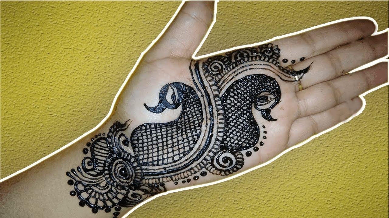 Mehndi Peacock Tattoos : Peacock mehndi design for beginners diy youtube