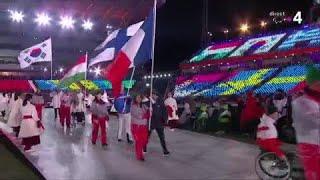 Jeux paralympiques - Le passage de Benjamin Daviet lors de la cérémonie de clôture