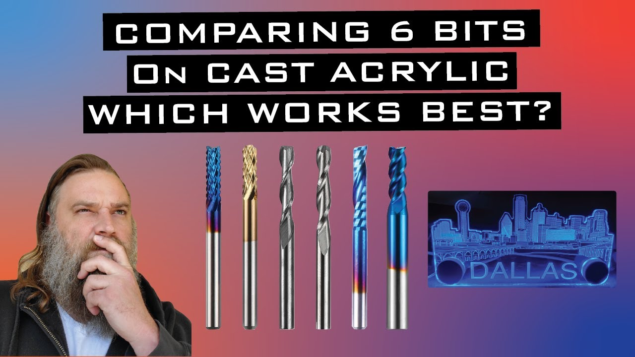 Download Testing 6 Different CNC Bits to Cut/Mill Cast Acrylic with my 3018 PROVer