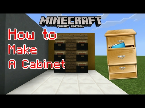 How To Make A Cabinet Minecraft Tutorial Youtube