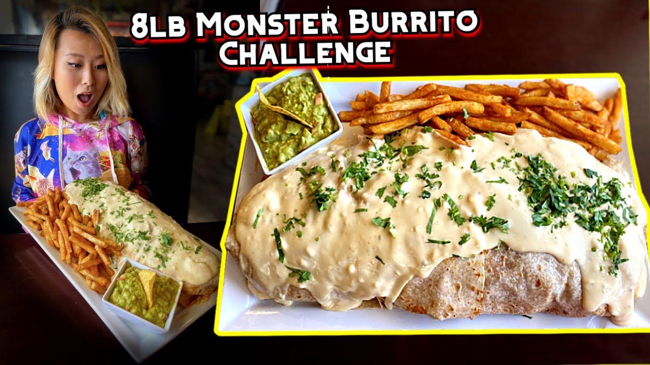 8lb Monster Burrito Challenge in Indiana!!! Mexico Lindo Bar & Grill #RainaisCrazy