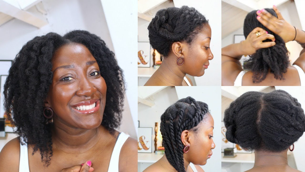 15 Simple Protective Hairstyles For Hair Growth    thin/fine natural hair     Adede