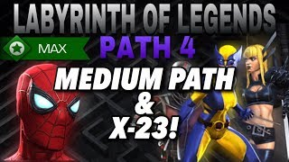 12 Soloed Kills Again!! Magik, X-23 And Others In Labyrinth Path 4! | Marvel Contest of Champions