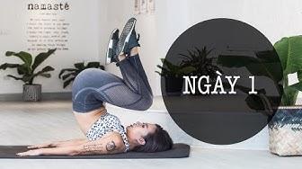 7 ngày siết mỡ bụng + thực đơn | Ngày 1 | Workout #102 | Hana Giang Anh