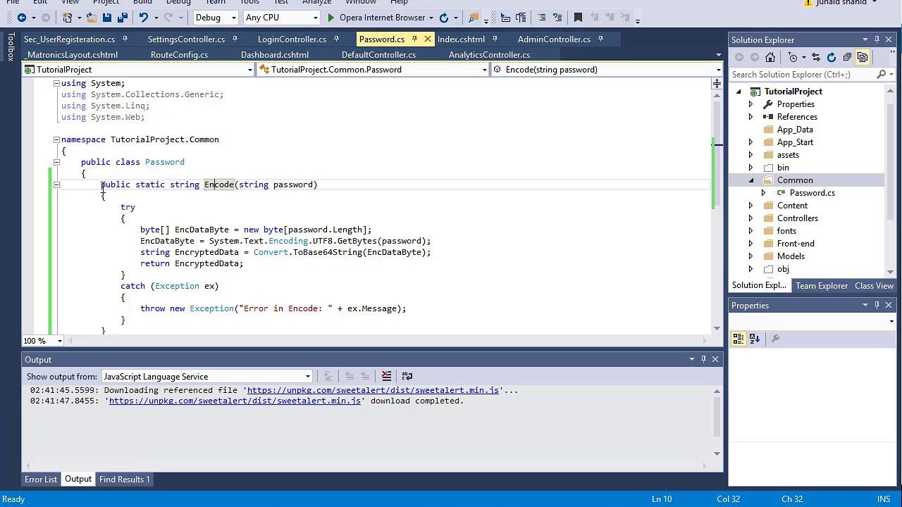 306 ASP  NET MVC - Password Encryption With Base64 Convertion Method
