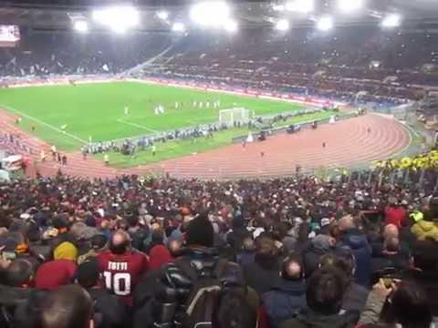 ROMA - LAZIO 2 -1 DERBY (18/11/2017) GOAL PEROTTI da brividi dalla curva