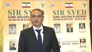 Mr. Farroukh Kidwai - Sir Syed Global Excellence Awards 2018