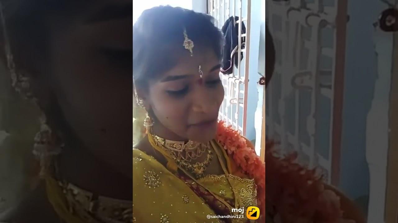 Saichandini tiktok videos popular videos marriage videos(5)