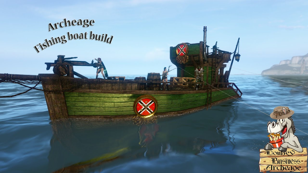 Archeage fishing boat build youtube for Build fishing boat