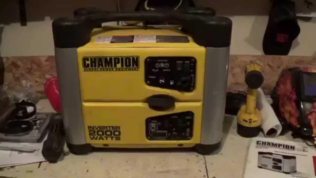 Champion 2000 Watt Inverter Generator Review Youtube