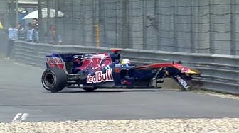 Sebastien Buemi's Wheels Come Off | 2010 Chinese Grand Prix