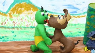 Baby Video Cartoons - GREEN BABY Compilation 133 to 160Ep. - Play Doh Baby Stop-Motions
