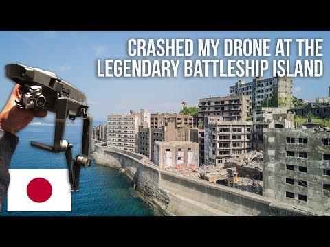Crashed my drone at the legendary abandoned Battleship Island