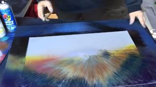 Spray Paint Art Sky Technique - Skipp Gooley NHSPRAYPAINTART.COM also on Etsy by the same name.