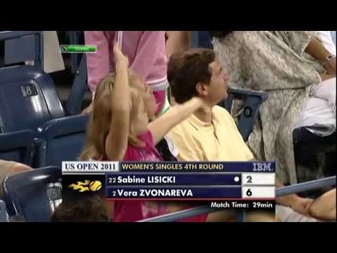 US Open: Crowd Dancing, Sabine Laughing!