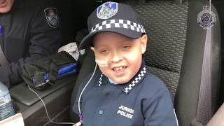 Kid With Brain Cancer Is Living Out His DreamJob As A Police Officer For A Day