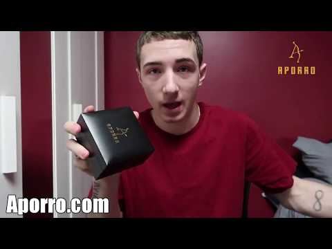 14k-gold-iced-tennis-chain-and-ankh-and-tennis-cross-set-|-unboxing-and-review-|-aporro