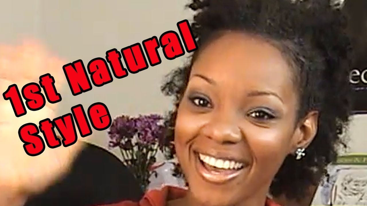 beginner natural hair routine styling