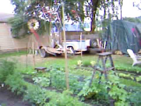 Deer fence around garden youtube for How to keep deer out of garden fishing line
