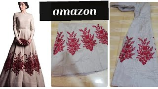 Amazon gown with price royal export long gown Amazon gown unboxing online shopping review