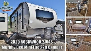 New 2020 ROCKWOOD 2104S Updated Options Mini Lite Murphy Bed Lightweight Camper RV Greeley Colorado