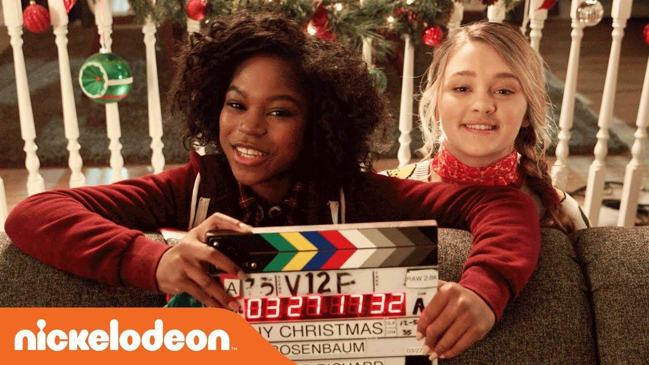 Tiny Christmas.Bts Of Tiny Christmas Movie W Bff S Lizzy Greene Riele Downs Nick