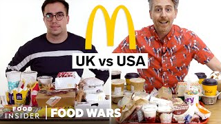 US vs UK McDonald's | Food Wars