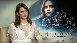 Rogue One star Felicity Jones explains why Jyn Erso is a rebel in an interview with the cast.