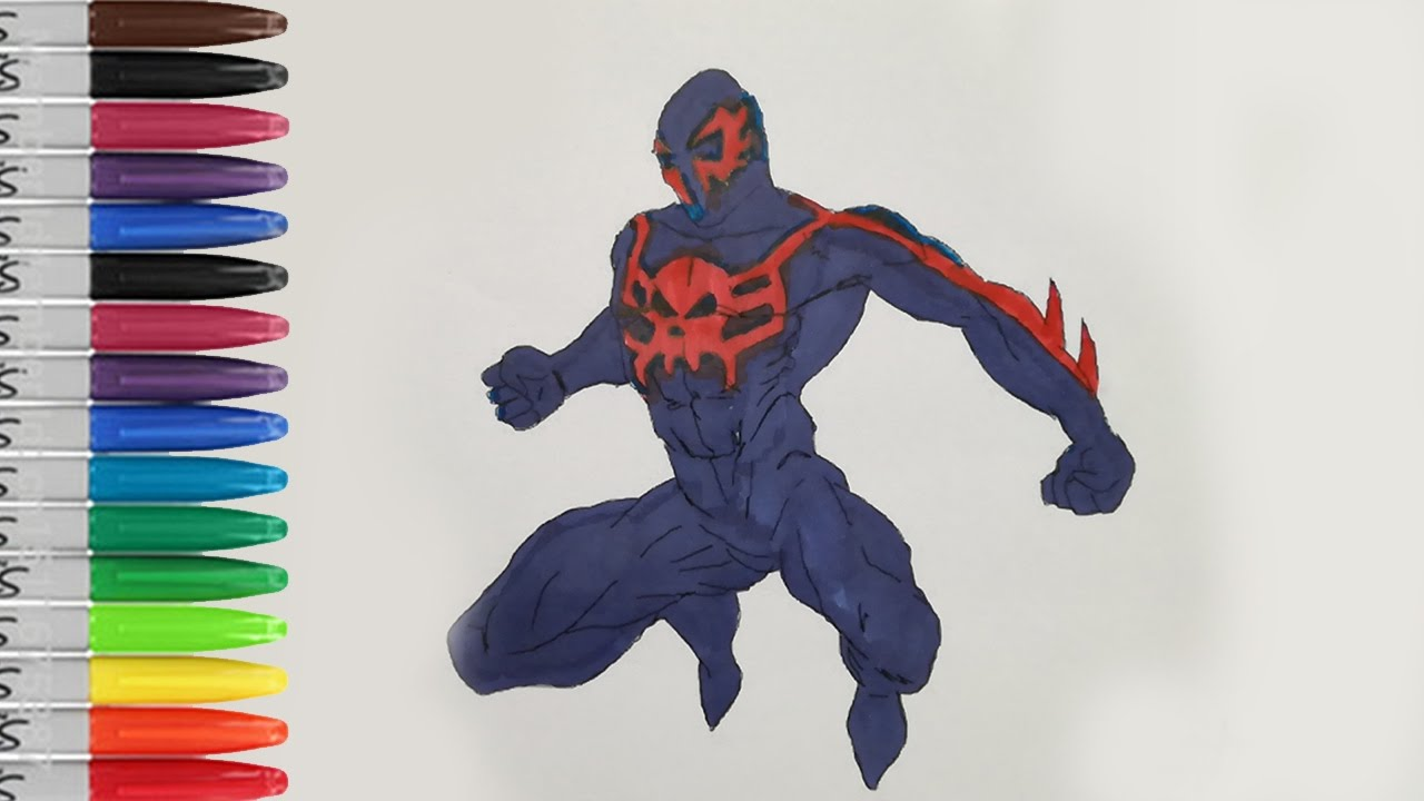 SPIDERMAN 2099 Got Angry Coloring Pages The Ultimate SPIDERMAN
