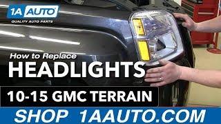 How To Install Change Headlight and Bulb GMC Terrain