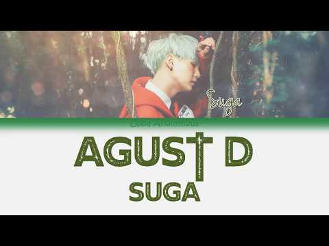 Agust D SUGA - Agust D HanRomEng Color Coded 한국어 가사