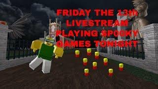 Roblox-é sexta-feira 13 vamos jogar alguns jogos SP00KY!!!