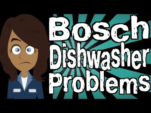 bosch dishwasher problems