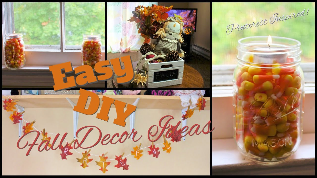 easy fall decor diy pinterest inspired youtube. Black Bedroom Furniture Sets. Home Design Ideas