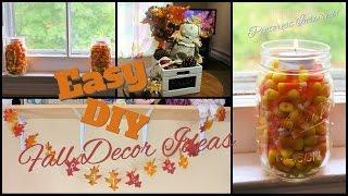 Easy Fall Decor Diy | Pinterest Inspired!