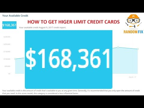 How To Get Higher Limit Credit Cards Learn The Secret Learn About Cardmatch