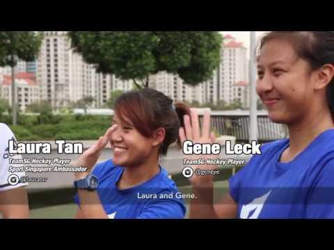 Singapore Tennis Festival Challenge 2017 (5): Hockey-Tennis Pong Challenge