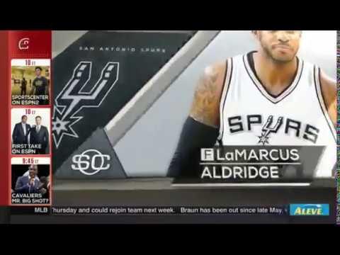 San Antonio Spurs looking to trade Lamarcus Aldridge for top 10 draft pick!!