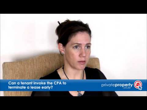 Can a tenant invoke the CPA to terminate a lease?