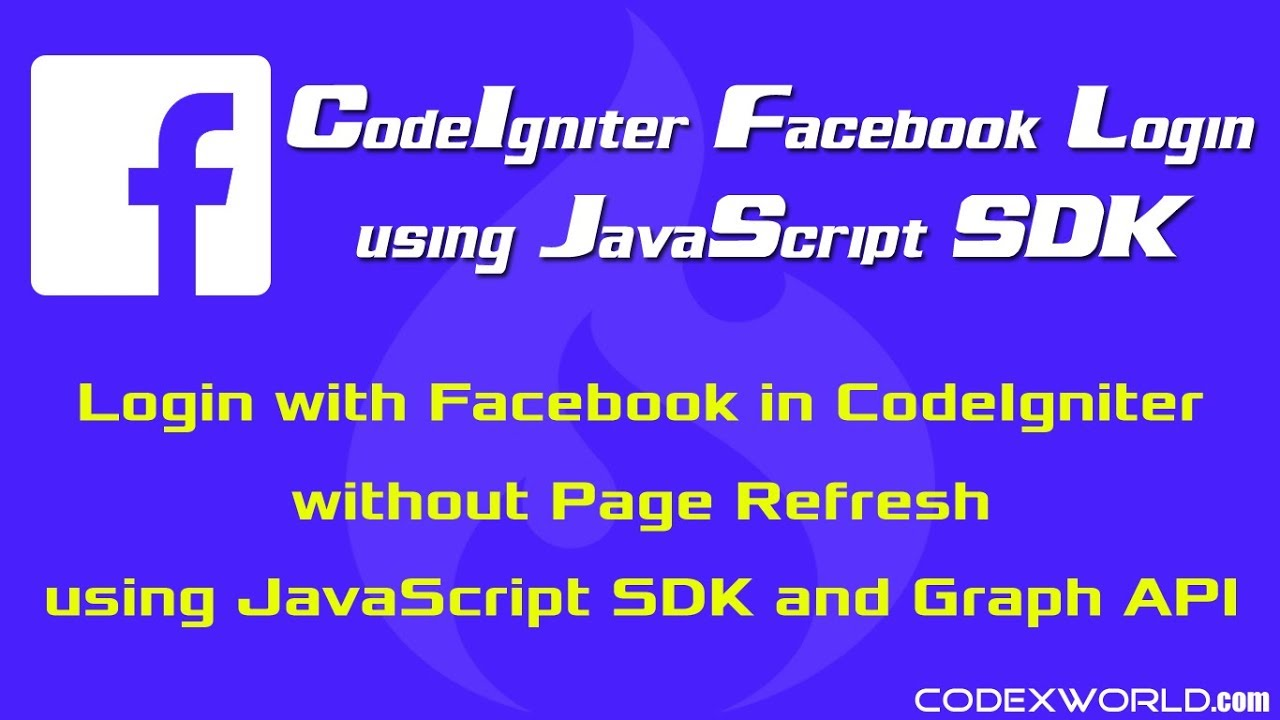 Login with Facebook in CodeIgniter using JavaScript SDK