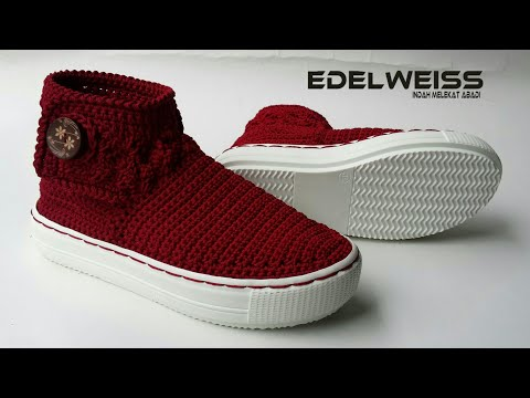 Review : CROCHET SHOES || SEPATU RAJUT BOOTS