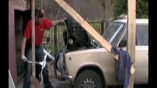 видео Снимаем двигатель с ВАЗ-2101