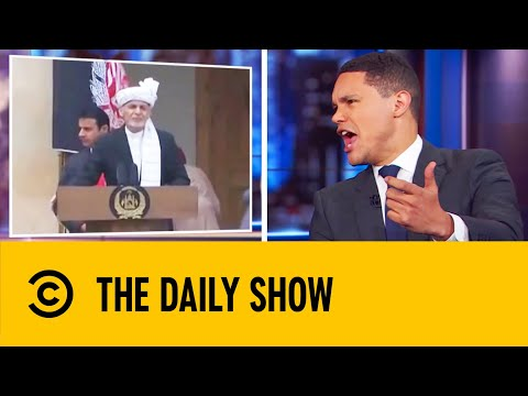 Afghan President Continues Speech Despite Nearby Explosions | The Daily Show With Trevor Noah
